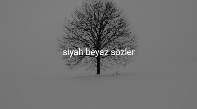 siyah beyaz sözler